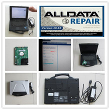 auto software repair all data 10.53 mitchell ondemand with computer cf52 toughbook cf-52 for cars and trucks hdd 1tb win7