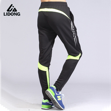 Jogger Pants Football 2017 Soccer Pants Active Jogging Trousers Sport Running Track GYM clothing Men's Sweatpant XS-XXL
