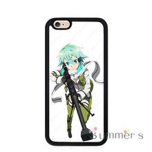 back shell skins cellphone case cover for iphone 4 4s 5 5s 5c SE 6 6s 7 plus ipod touch 4/5/6 Sword Art Online Sinon Aim SAO(China)