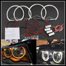 4*131mm Angel Eyes headlights white SMD LED Angel Eyes for BMW E46 E39 E38 E36 projector led headlights halo ring kit for BMW