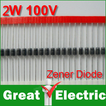 20PC/Lot DIP Zener Diode 100V 2W Free Shipping #WY081(China)