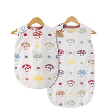 2016 Fashion Brand 100% Pure Natural Gauze Swaddle Baby Sleeping Bag Summer Boy Girl Child Prevent Kicking Quilt Six layer Gauze