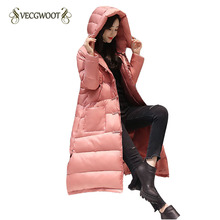 Winter National wind Women Down jacket 2017 New Pure color Warm Hooded High quality Comfortable Women Down Jacket SES854(China)
