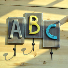 American country old vintage wooden wall letters do coat hook on the wall mural digital three hook CA60