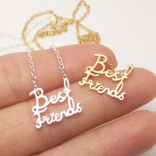 Buy Stainless Steel Dainty Best Friends Necklaces & Pendants Gold Silver Color Chain Letter Choker Necklace Women Jewelry Friendship for $1.80 in AliExpress store