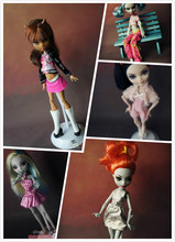 New 10pcs/lot  clothes for Monster High dolls fashion casual suit Original clothing doll's dress for Monster Hight dolls