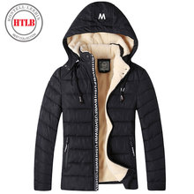 HTLB 2017 thicken winter Jacket Parkas men brand clothing male cotton Fleece Warm winter New top QualityTop down Parkas men(China)