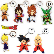 Anime Dragon Ball Monkey Keychain Son Goku Super Saiyan Silicone PVC Keychain action figure pendant Keyring Collection toy ZKDBF(China)