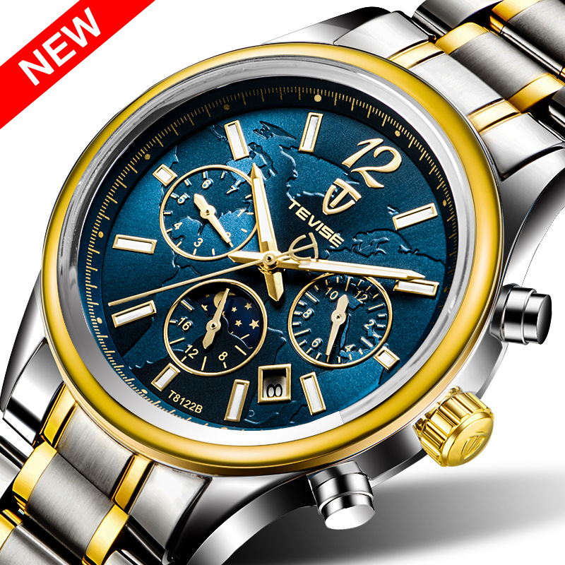 Hot TEVISE Brand  Men Mechanical Watch Fashion Waterproof Sport  Automatic Fashion luxury Gold Watches Relogio masculino 2017New<br>