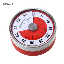 OOTDTY Stainless Steel Magnets Fridge Kitchen Timer Clock Mechanical Reminder Sport Cooking Reminder Counter(China)