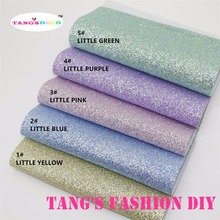5pcs--20x22cm baby color GLITTER LEATHER/Synthetic leather can choose color(China)