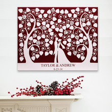 Fingerprint Signature Guest Signature Party Gift Wedding Canvas Signing Board - Lover Under The Love Tree Wedding DIY Decoration