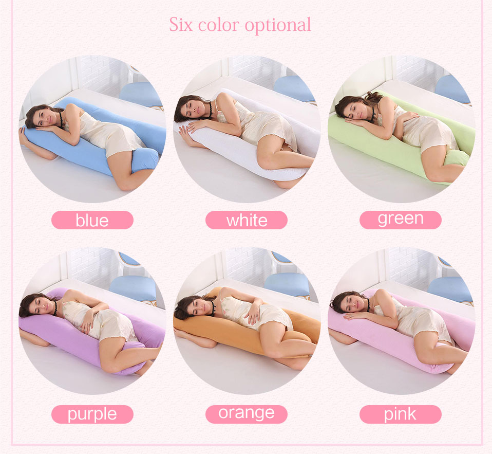 Sleeping Support Pillow For Pregnant Women Body 100% Cotton Pillowcase U Shape Maternity Pillows Pregnancy Side Sleepers Bedding (3)