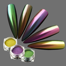 Full Beauty 0.15g Chameleon Mirror Effect Fine Nail Glitter Dust DIY Holographic Nail Art Decorations Shiny Powder CHB801-8800(China)