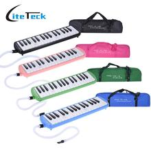 32 Piano Style Keys Melodica Musical Education Instrument for Beginner Kids Children Gift with Carrying Bag Pink