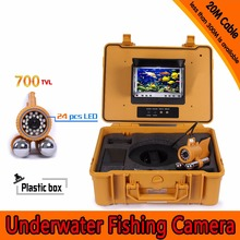 (1 Set) 20M Cable 7 inch TFT-LCD Color Screen HD700TVL CMOS Fish finder Inspection Camera Underwater Fishing camera dual-pandent(China)