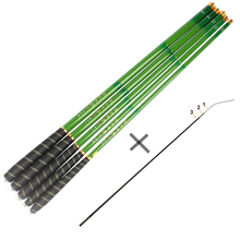 Telescopic Fishing Rod 28 Power Ultralight 32T Carbon Fiber Hand Pole Stream Fish Rods 3.6-7.2M with 3 Spare Top Tips