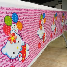 108*180cm Hellokitty Theme Party Supplies Tablecloth/Tablecover Baby Favor kids Hello kitty birthday party decoration Supply07