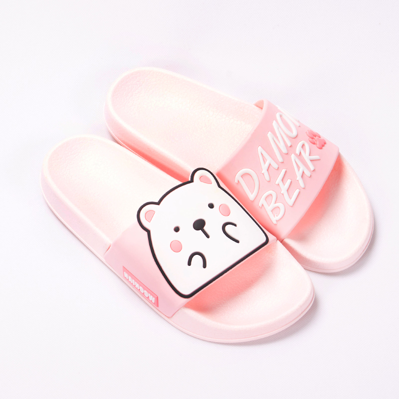 Cartoon Women Summer Slippers Cute Damon Bear Soft Sole Slides Home Slippers Indoor & Outdoor Sandals Women Shoes Flip Flops 18