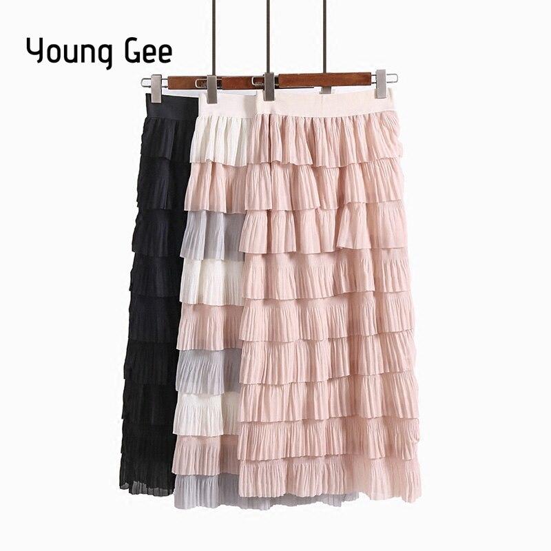 Layers Young Sweet Gee Long Summer Spring Women Fashion Chiffon mvn80Nw