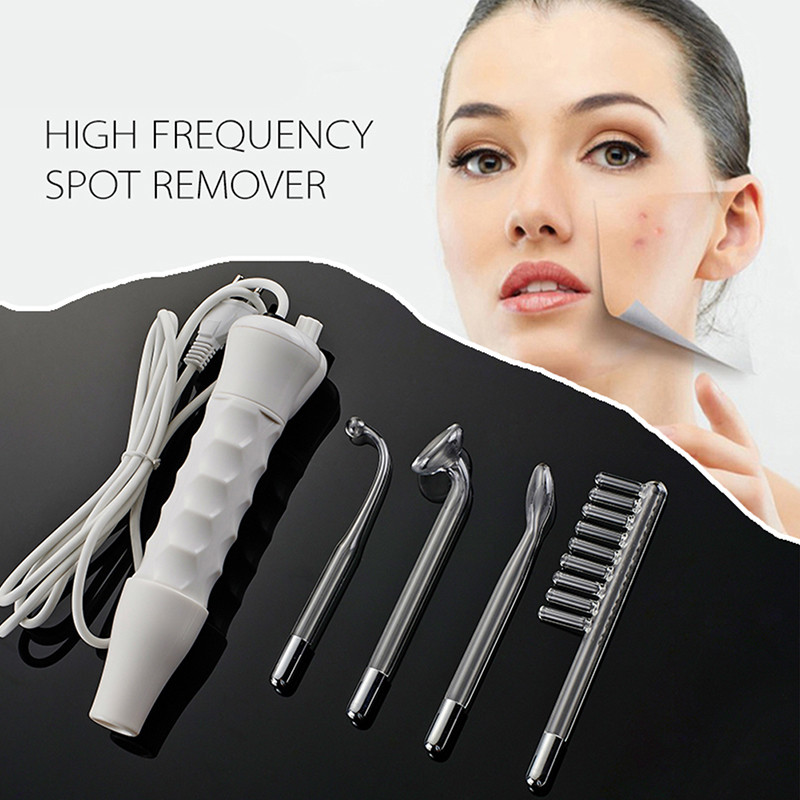 Gift Box Package Portable Darsonval High Frequency Facial Massager Facial Skin Care Massage Machine 4 Wands Professional Kit<br>