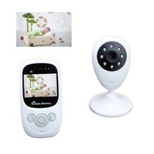 2017 baba electronics baby monitor 2.4 inch LCD IR nightvision 2 way talk Temperature monitor Rechargeable Battery baby monitors