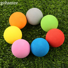 20pcs EVA Foam Golf Balls Soft Sponge Golf Monochrome Balls for Outdoor Golf Practice Balls for Golf/Tennis Training Solid Color(China)