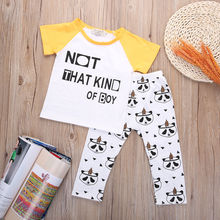 2016 New Animal Outfit Baby Boy Cartoon Panda Printing Clothes Full Sleeve T-Shirt  Pants Outerwear sets 2T 3T