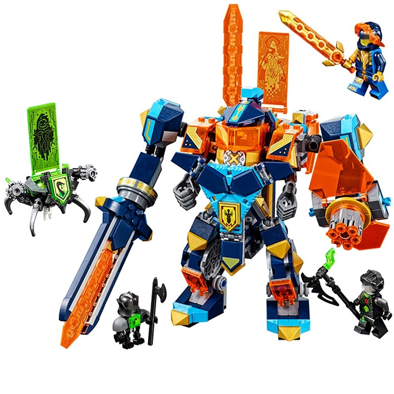 14043 The Future High-tech Magic Armored Ares Nexo Knights Building Blocks Toys For Children Figures Compatible Legoing 72004