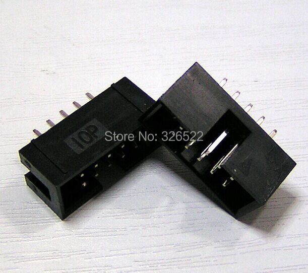 10PCS DIP Box headers 10-Pin 2x5 DC3-10P straight 2.54mm Box headers connector 10Pin
