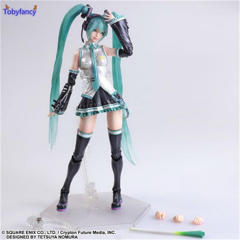 Tobyfancy Hatsune Miku Action Figure Play Arts Kai PVC Toys 270mm Anime Model Hatsune Miku Playarts Kai Toy<br>