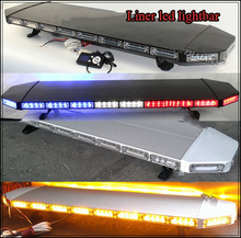 Higher star 120cm DC12V 88W Led emergency lightbar,warning lights for police ambulance fire truck,18flash,Aluminum casing(China)