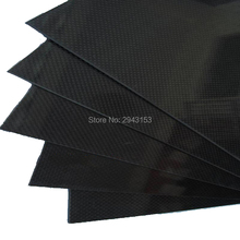 0.5mm*245*315mm CNC 3K weave glossy matt Carbon Fiber plate sheet for RC Airplane Quadcopter Multirotor frame
