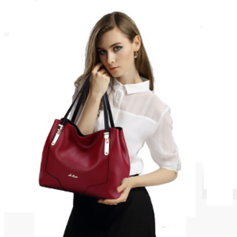 8888 famous brands women bag 2016 new  women genuine leather bag Top Quality  fashion  women handbags Shoulder Bags black red<br><br>Aliexpress