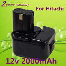 New 12V Ni-CD 2.0Ah Replacement Power Tool Battery for Hitachi EB1212S EB1214L EB1214S EB1230,EB1230H,EB1230X,EB1233X 323226