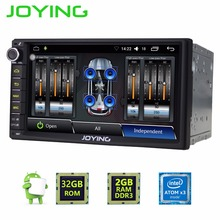 Latest JOYING 2GB RAM Android 6.0 Double 2 Din car radio Steering Stereo Navi support camera with Digital amplifier