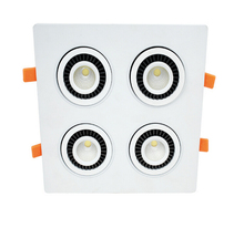 Rotate 360 degrees 4*7W 4 Head COB LED Downlight all with power Driver COB LED Down Light discount chandelier Ceiling