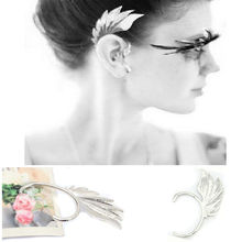 1PCS New Punk Rock Metal Angel Ear Cuff Earring Silver gold-color Ear Wrap Fashion Wing Ear Clip Ear Jewelry 2 Color