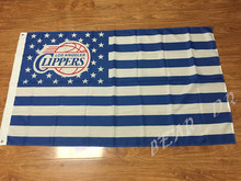 US NBA Los Angeles Clippers star striped top basketball team logo sports decorative 96x144cm Free Shipping