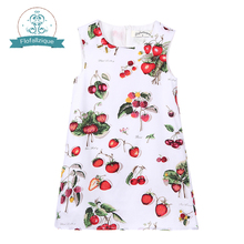 Toddler Girls Dresses 2016 Brand Summer Princess Dress Kids Clothes Fruits Print Design for Baby Girls Frocks Costumes 1-8Y