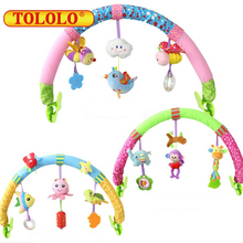 TOLOLO  HOT sale 1pcs Baby Hanging Baby Blue Bird  And Purple monkey Music Toy Bed & Stroller Toy Baby Rattle Gifts