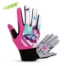 BATFOX Full Finger Women Cycling Gloves Polyester Breathable Bike Gloves Winter Outdoor Sport MTB Gel Bicycle Gloves S/M/L(China)