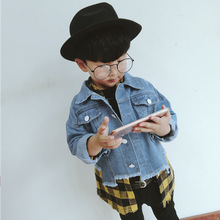 MAGGIE'S WALKER Baby Boys Denim Jacket Spring Autumn Casual Outerwear Coat Cowboy Clothing Toddler Boys Childrens Costume