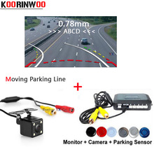 Dual Core CPU Car Parking Sensors Video system With Movable Rear view camera Reversing Radars parktronic Detector Show Distance