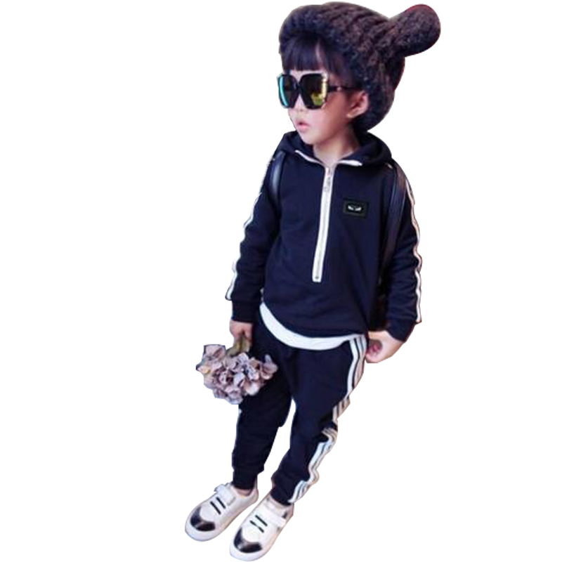 Long Sleeve Roupa Menina Solid Children Outfits Tracksuit Clothing Hooded Sets Of Clothes For Girls And Boys Kids Sport Suit<br><br>Aliexpress
