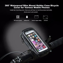 TSAI Universal Waterproof Bicycle bag  Bike Mount Holder Case Bicycle Cover For iPhone For Samsung For Sony For HTC Mobile Phone
