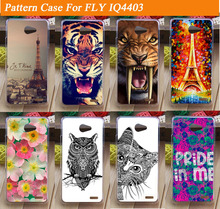 14 Styles Pattern Hard Plastic case DIY Cute Painting Cartoon  cover Phone Case For FLY IQ4403 Gionee V182 case cover