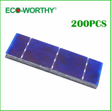 ECO-WORTHY 200pcs High Efficiency 156x39mm Polycrystalline Solar Cells 1W/pc Solar Module High Quality for DIY 200W Solar Panel