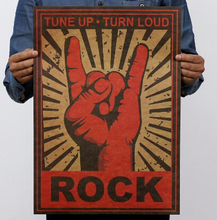 High Quality 36*51.5cm Rock Posters Bar Cafe Decorative Sticker