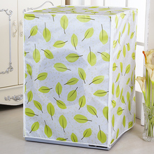 Satin Cloth Waterproof Drum Washing Machine Cover Protective Case Bathroom Sunscreen Washer dryer and cover fully-automatic(China)